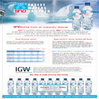 IGW is a very unique glacier water company, which is environmentally green, and uses some of its water resourses for humanitarian purpose
