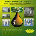 Based in Malaysia, Asia BioFuelTech (ABFT)/West East Biofuels (WEB) manufactures, markets biodiesel production equipment and related systems adopting British technology.
