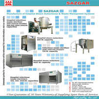 Manufacturer of Hospital Steam Autoclaves & Infectious Hospital Waste Sterilizers