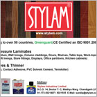 Stylam Industries Limited has been providing high quality laminates.