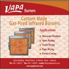 VAPA Burners established in 1960, is the pioneer in manufacturing gas fired infrared burners in Lebanon. Our Burners are highly reliable, heavy duty, and designed to operate under high gas pressure.