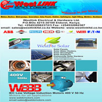 Westlink Electrical & Hardware Ltd. offers a complete line of Electrical Fittings, Switchgear, Power Tools, Lawnmowers, Electric Motors, Geared Motors, Generators Cables, Hardware Items. etc.