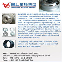 Specialized in development, design, manufacture and sale of steel wheel of the truck and trailer and bus,etc.